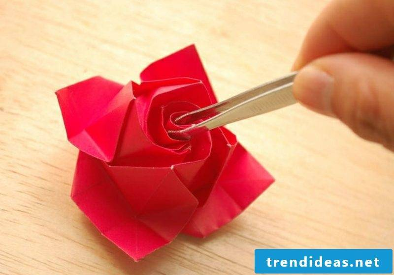 origami rose instruction paper rose