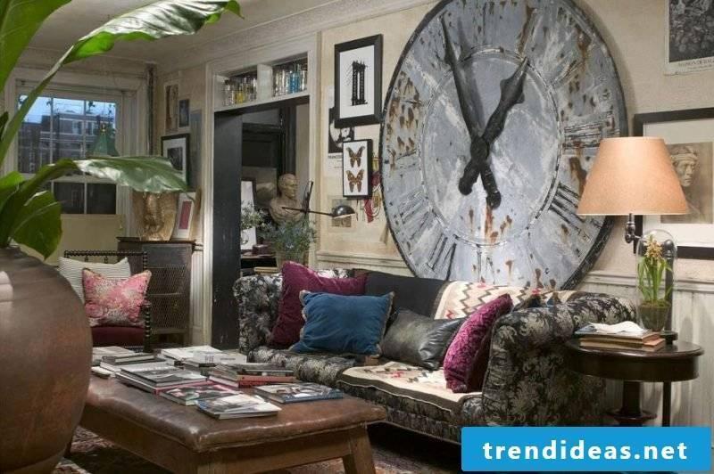 wall design living room ideas wall clock