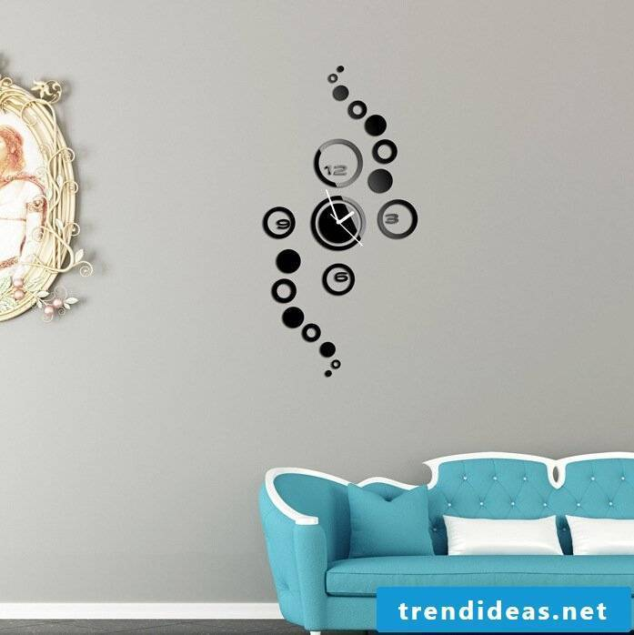 wall design ideas living room wall clock