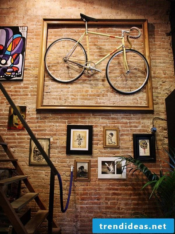 wall design bicycle