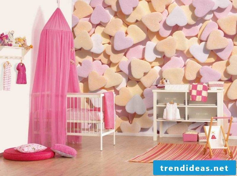wall design nursery ideas colors