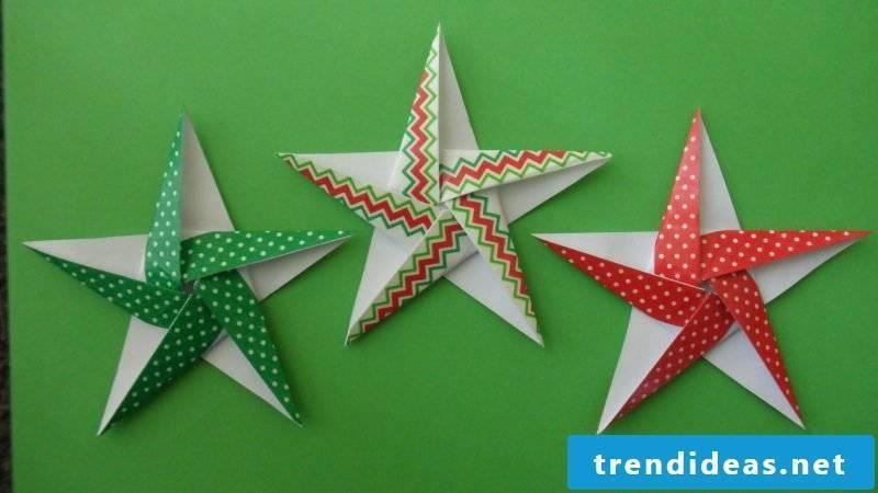 origami stars colorful