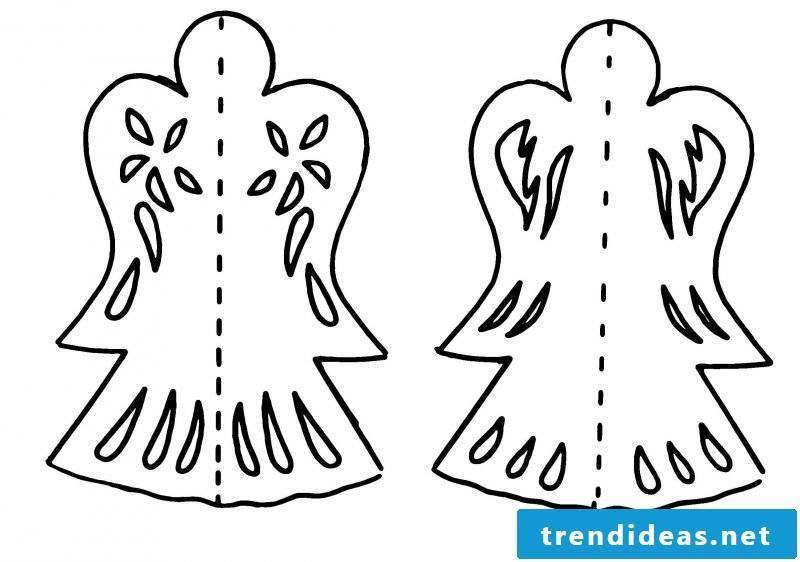 Christmas motives for printing angels
