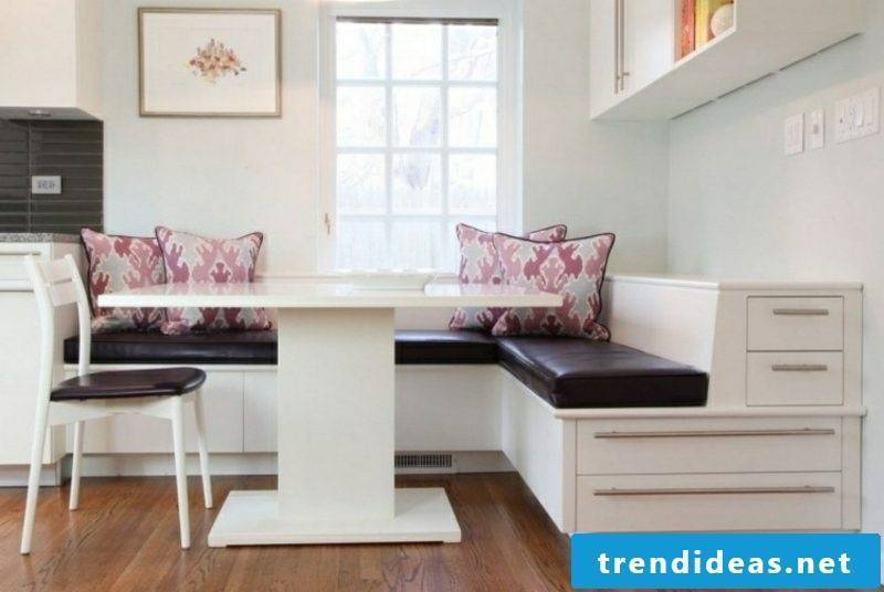 Corner bench modern look soft padding