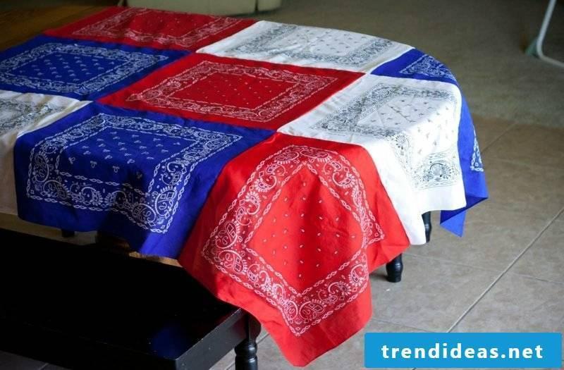 near tablecloth