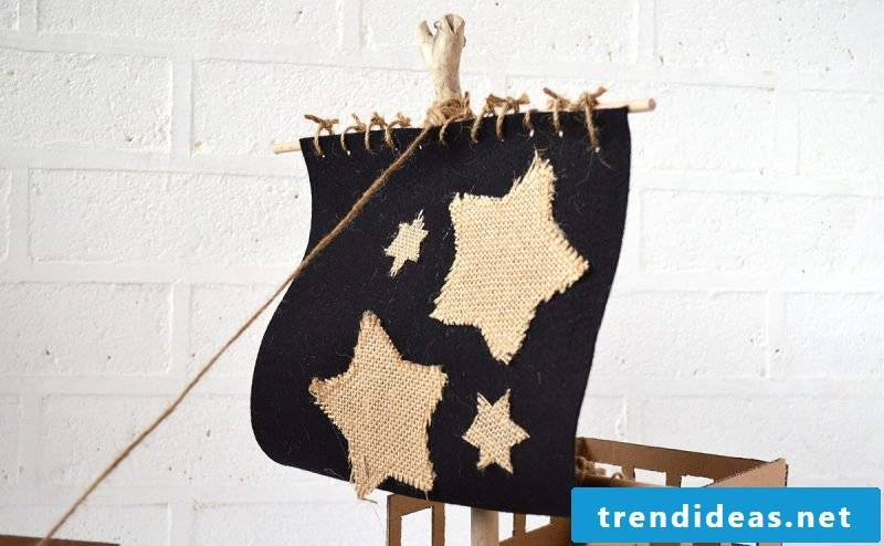 Crafting ideas for children in summer: DIY pirate ship