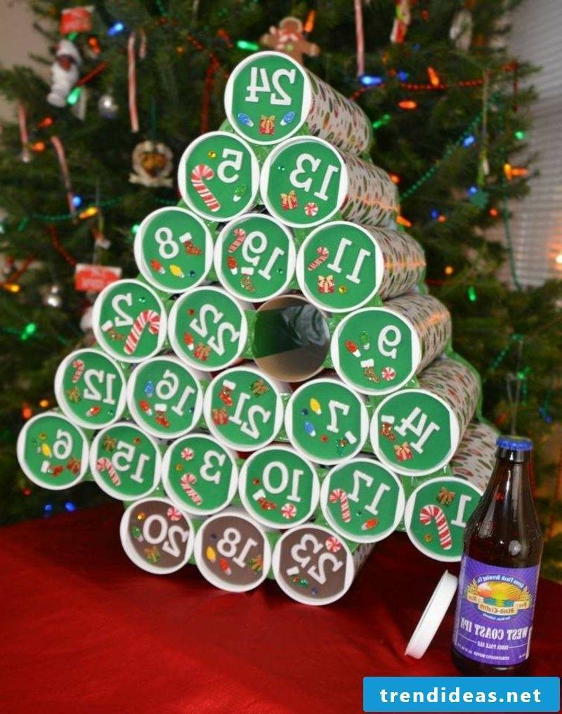 Advent calendar Christmas tree made by yourself