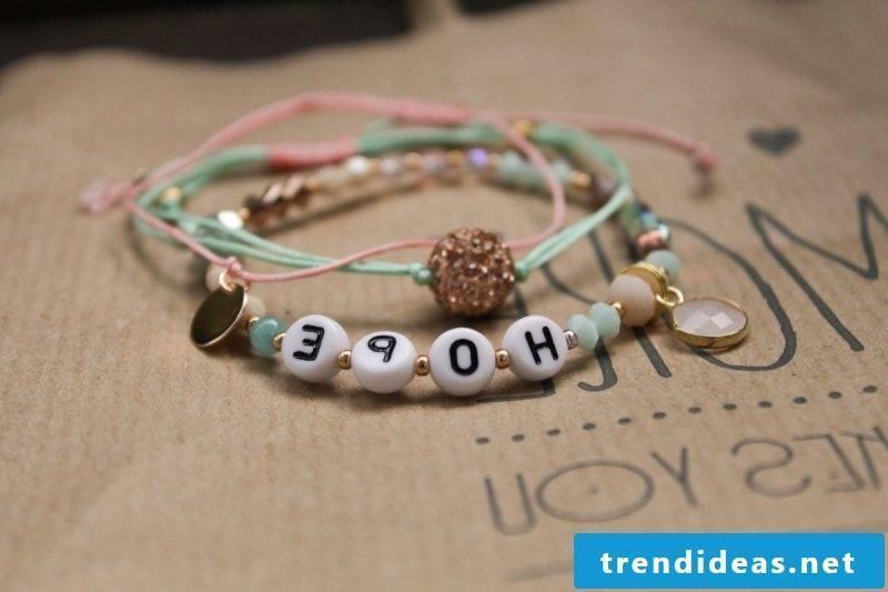 Bracelets tie inspirational