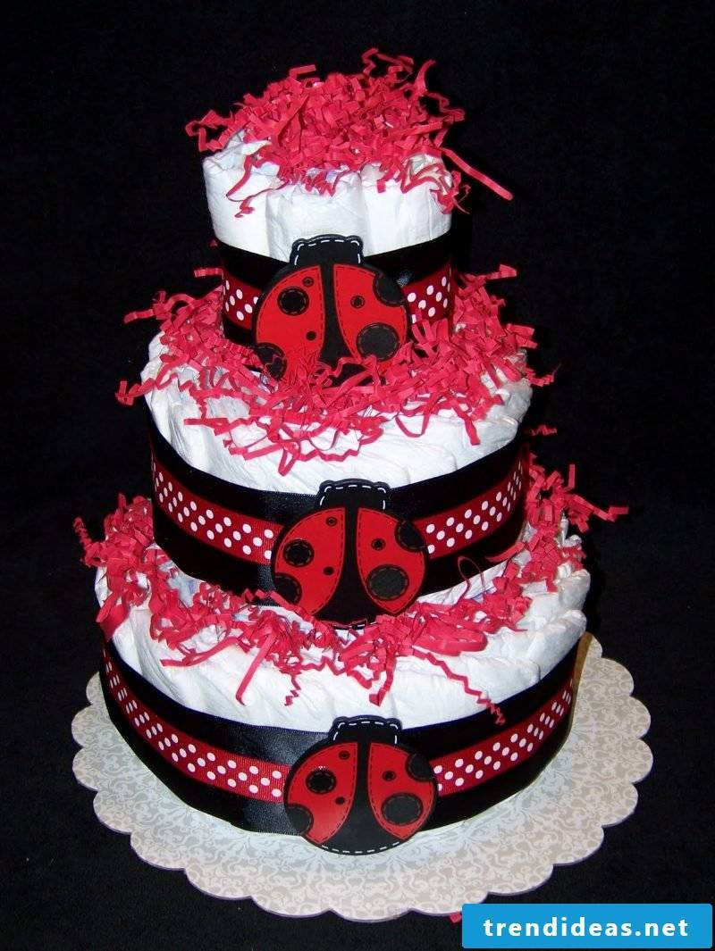 Instructions Diaper Cake Red