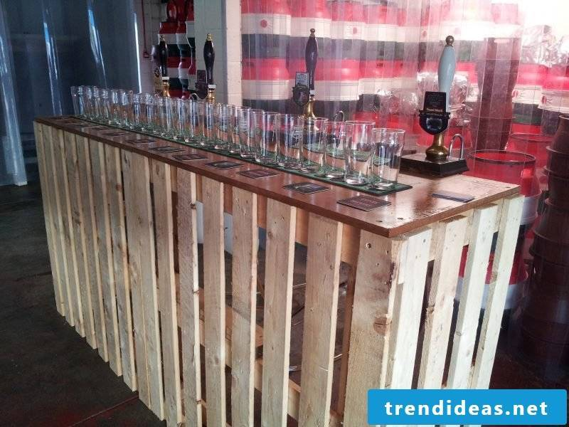 Bar build with wood panels