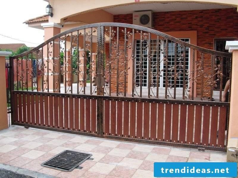 Garden gate build yourself: Interesting metal elements