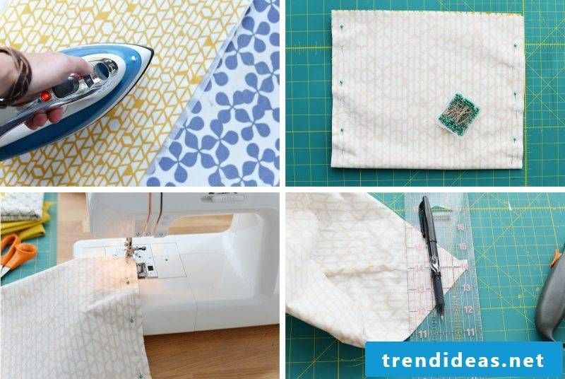 Curtain sew steps