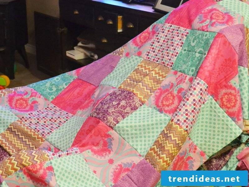 Patchwork blanket sew types