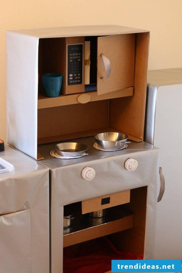 Children's kitchen itself build DIY idea