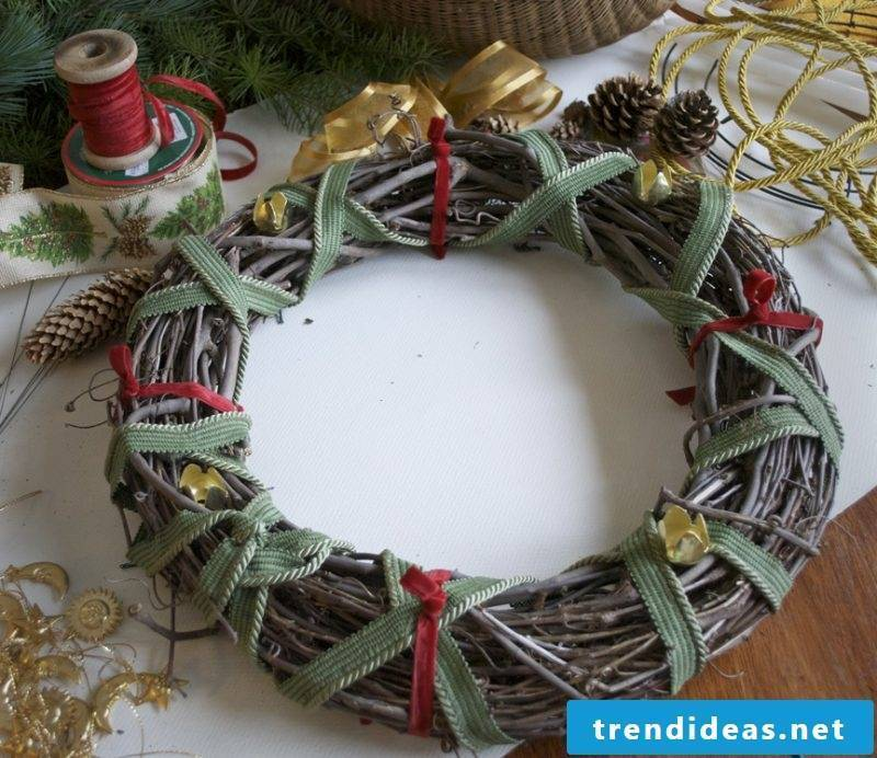 Make Advent wreath yourself - Instructions Step 1