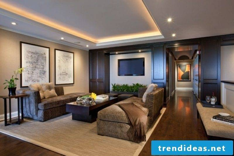 Living room ceiling indirect lighting LED