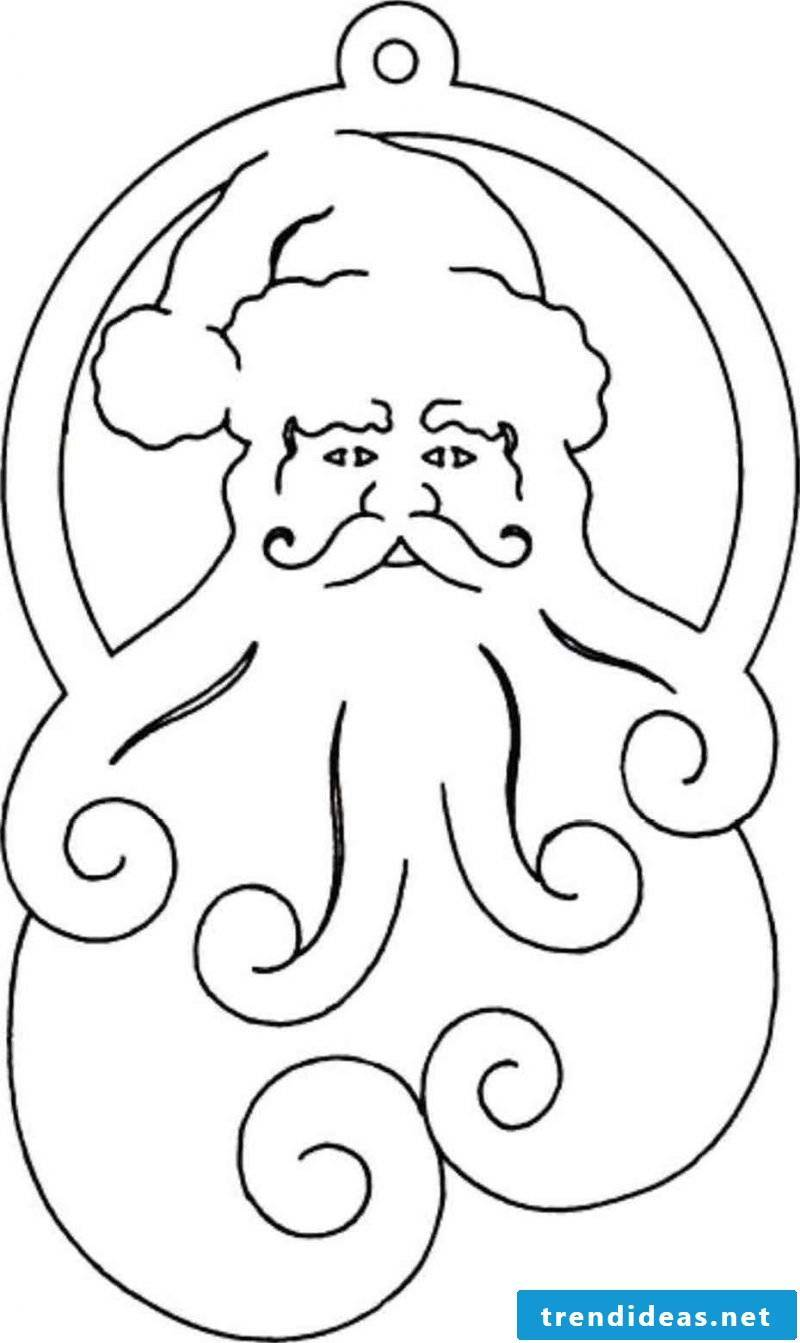 Christmas motifs for printing Santa Claus