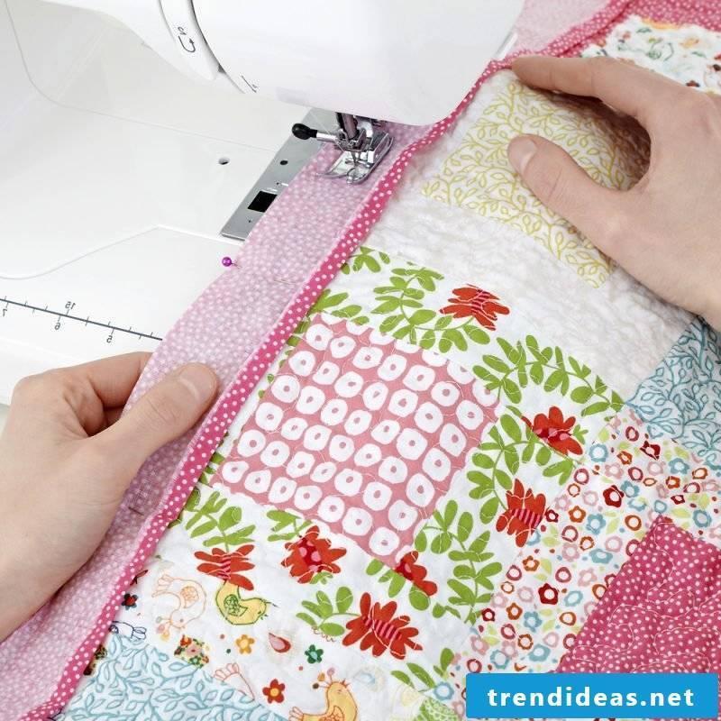 Patchwork blanket sew sewing machine
