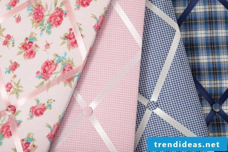Memoboard make yourself - the right choice of fabrics