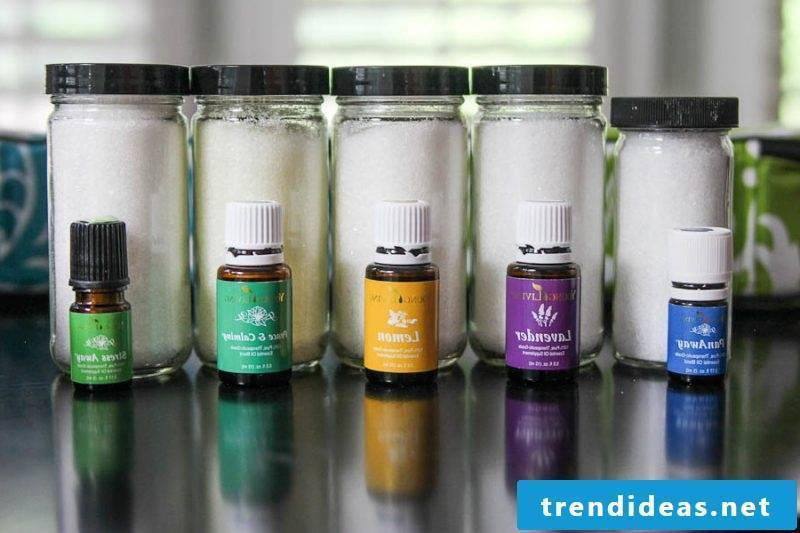 Bath salts themselves make essential oil