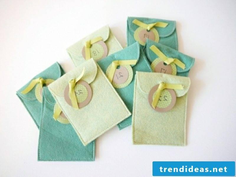 Advent calendar felt bags