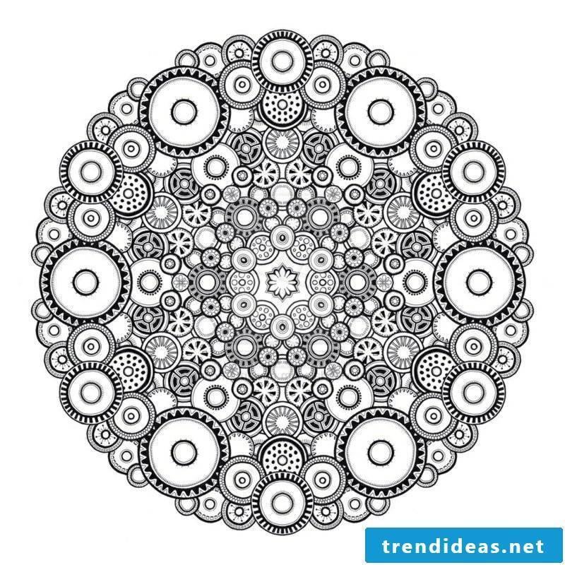 Mandala templates meditate