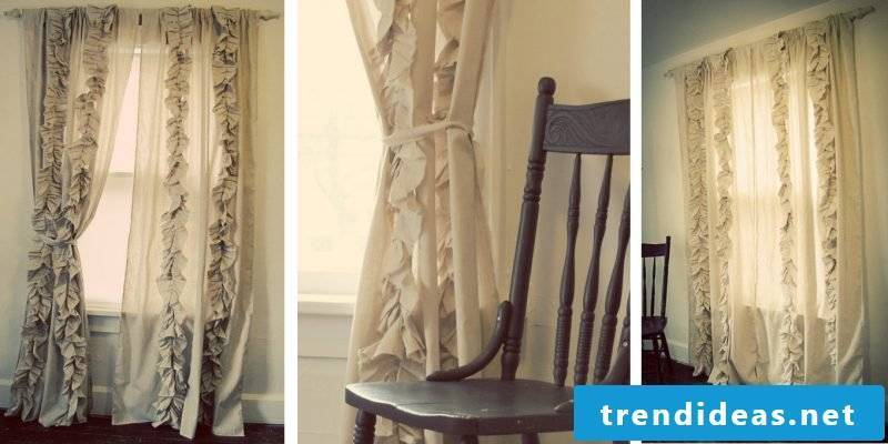 Curtain sewing homemade