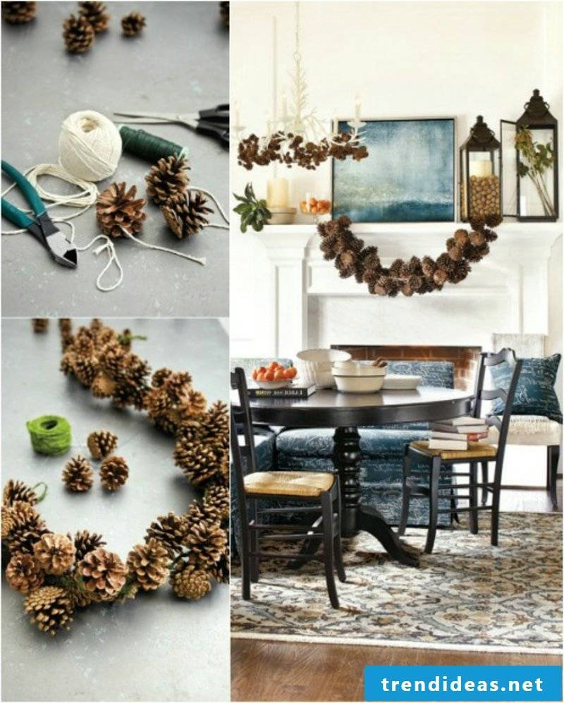 Tinker with pinecone deco