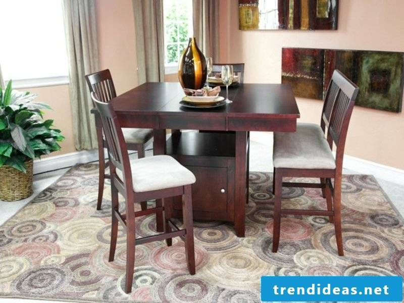 ombre dream carpet in the dining room