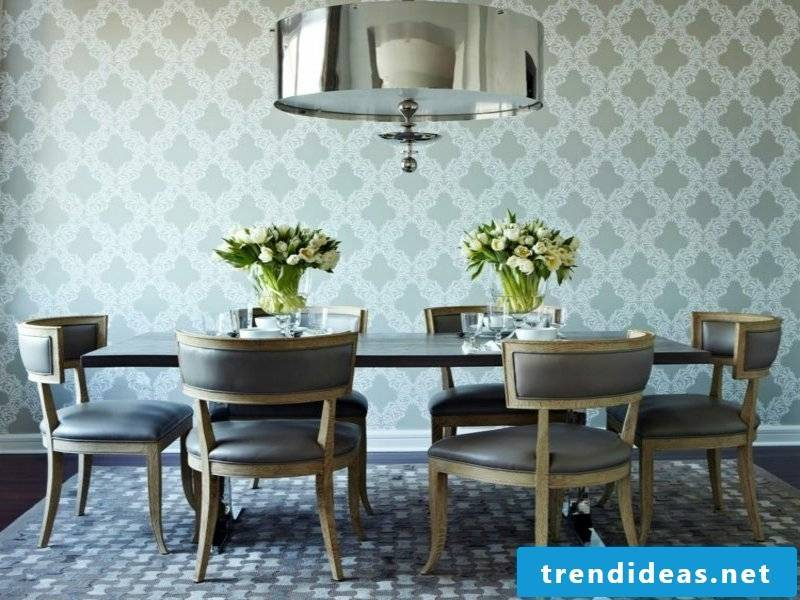 greyish dream carpet in the dining room