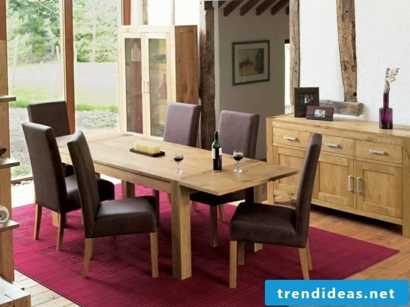 Wooden chairs on dream carpet