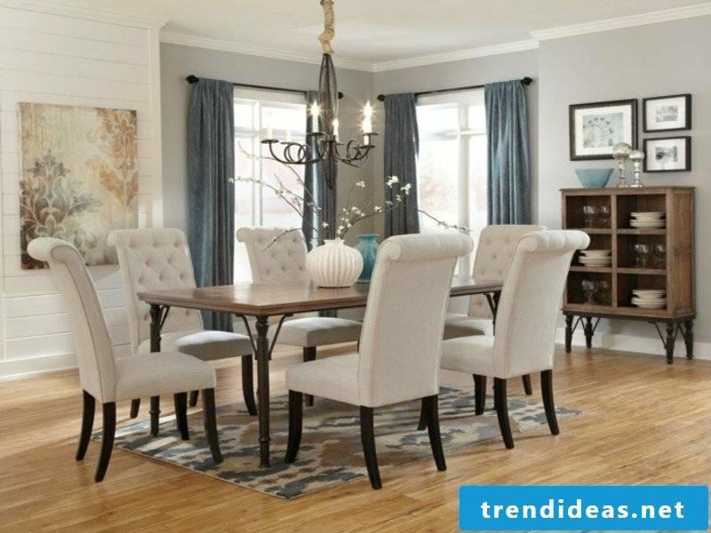 modern mini dream carpet in the dining room