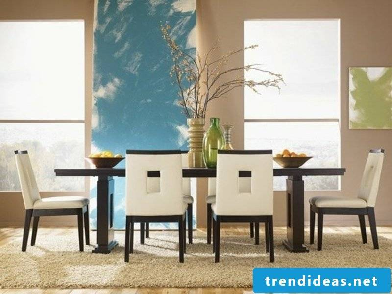 modern dining room furniture on the 7traumteppich