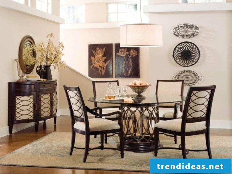 simple dream carpet in the dining room