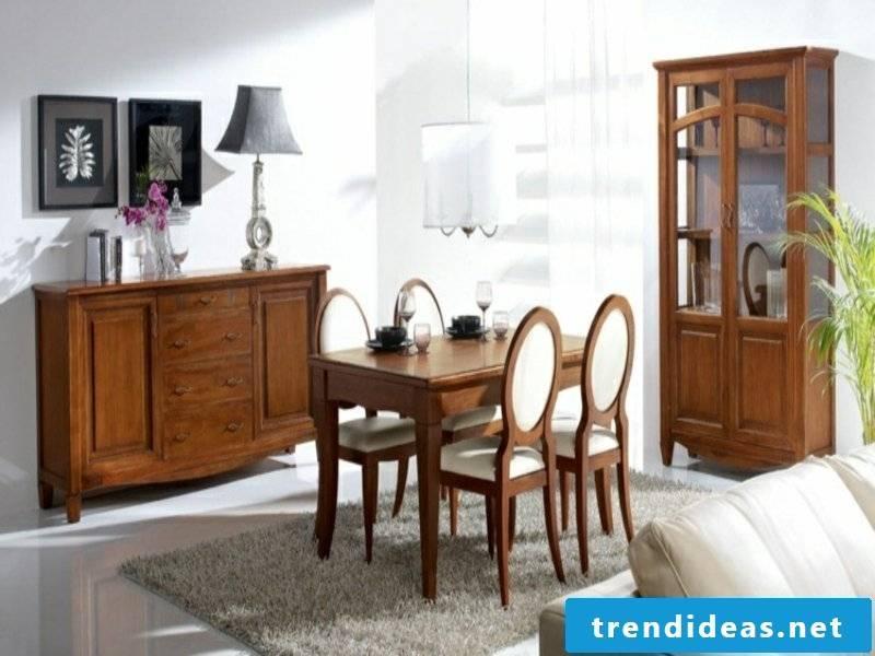 Dining room carpet and elegant designer furniture