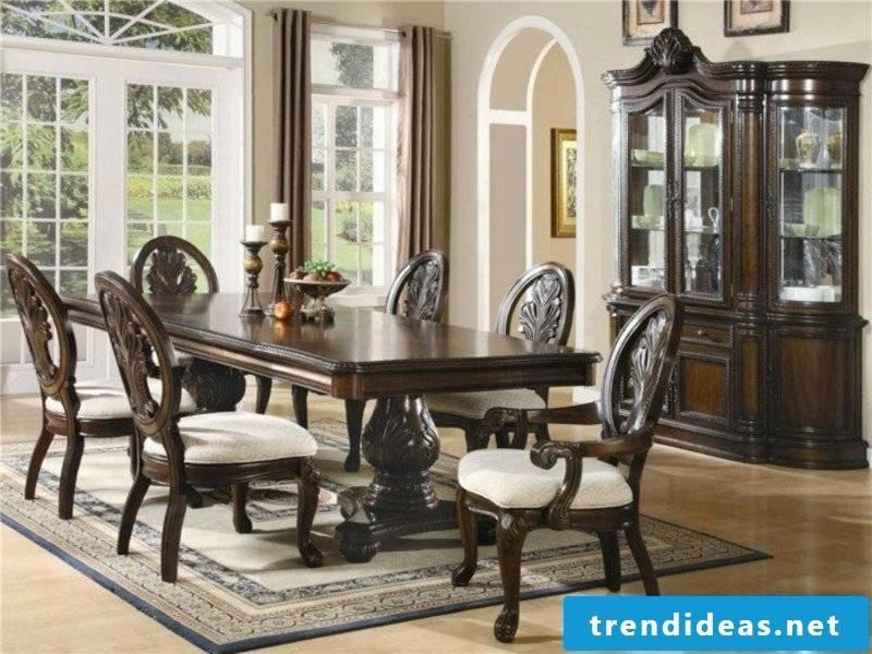 elegance and designer dream carpet in the dining room