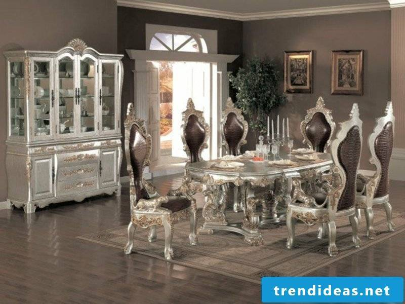 the same nuances in the dream carpet and the furniture in the dining room
