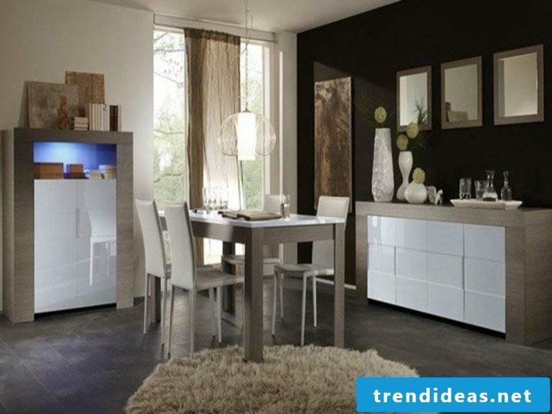 designer dining room furniture on the dream carpet