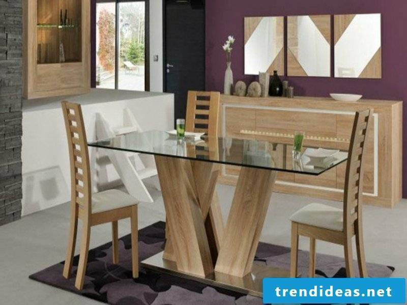 purple dream carpet in the dining room