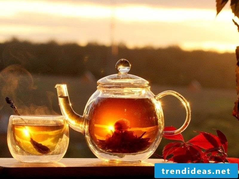 For the taste: tea and fruits