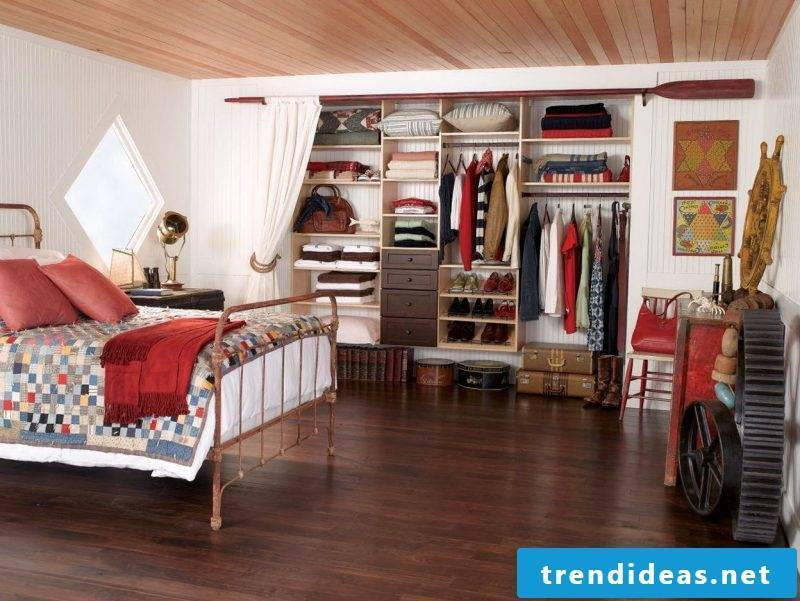 Wardrobe systems with curtain