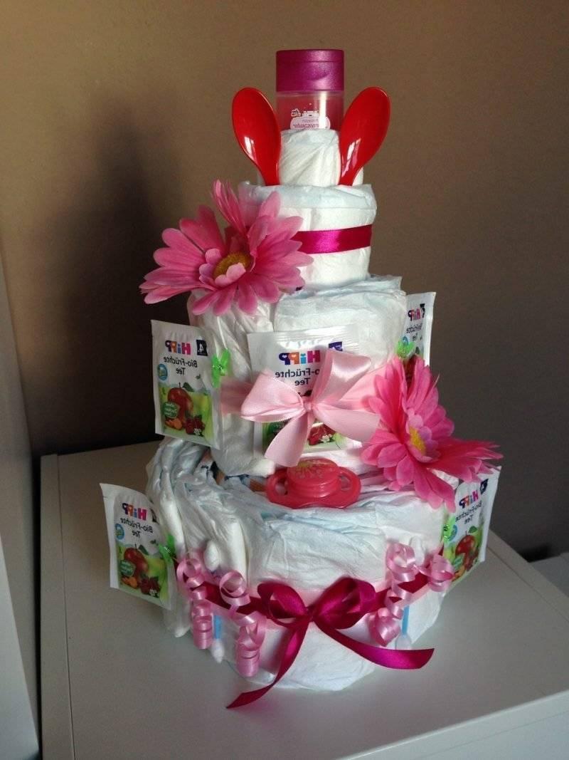 Diaper cake tinker pink