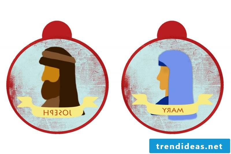 Christmas motives for printing template day 19