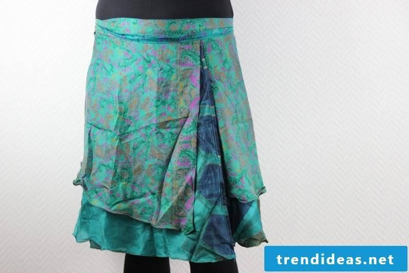 interesting asymmetrical wrap skirt