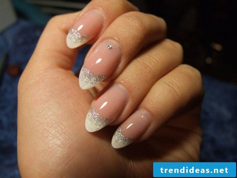 Nail art French glitter