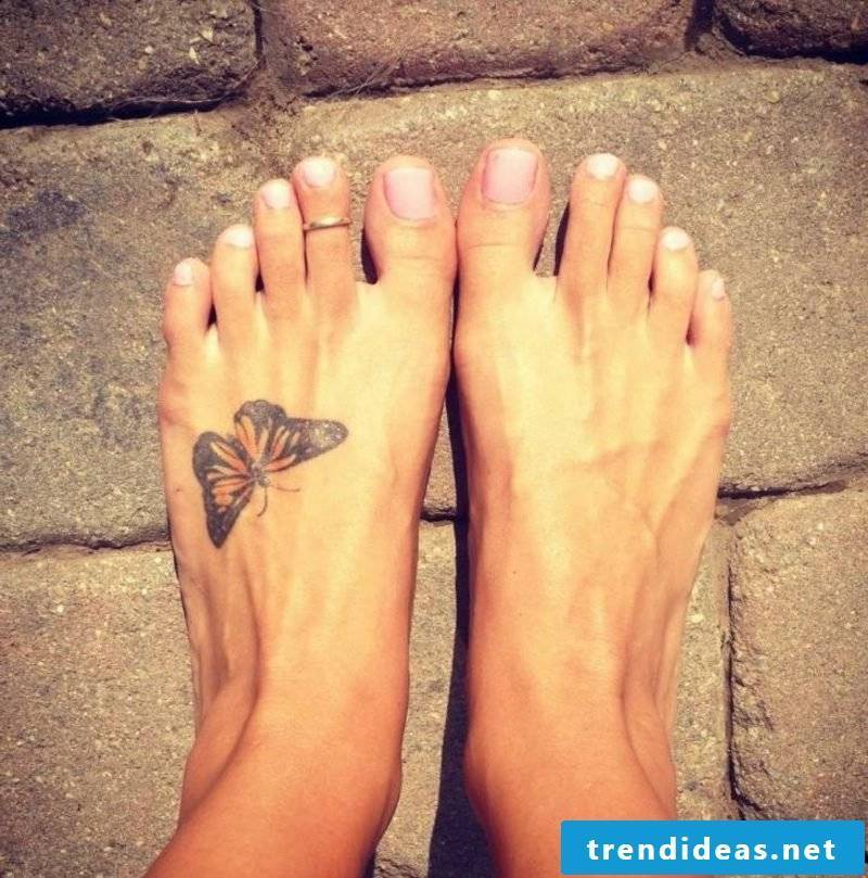 Butterfly tattoo foot