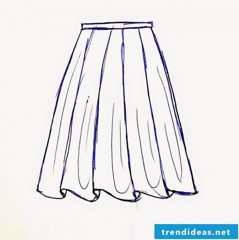 Sketch wrap skirt