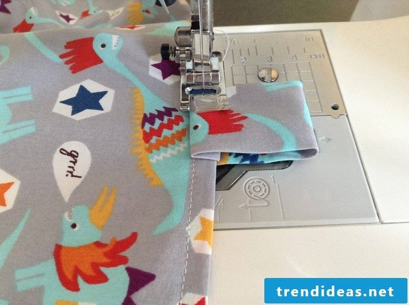 Sew curtain, sew on loops