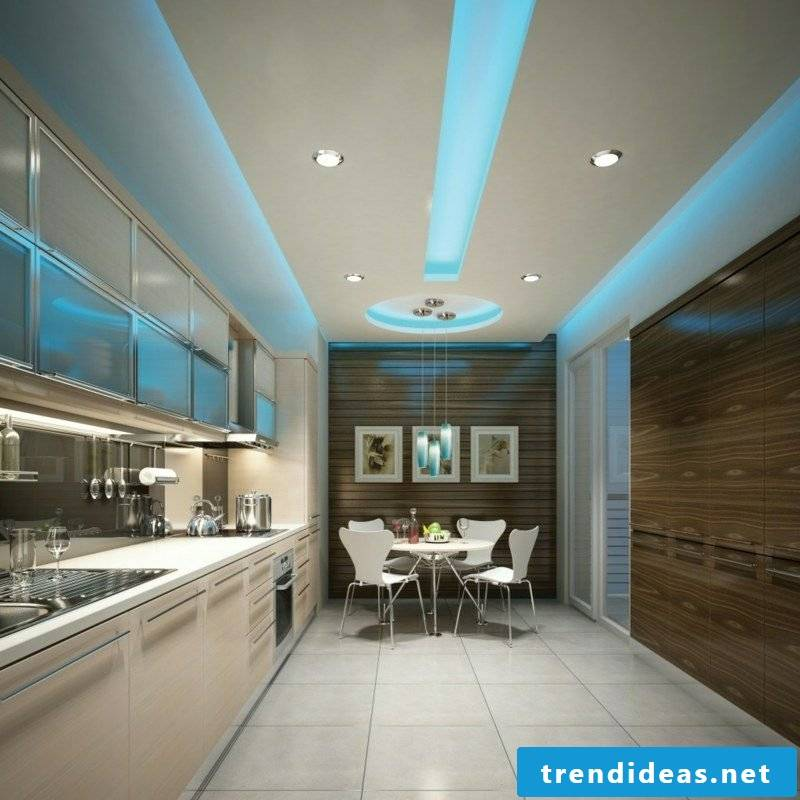 indirect ceiling lighting blue light