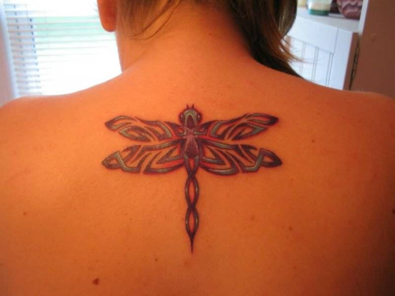 Dragonfly tattoo back
